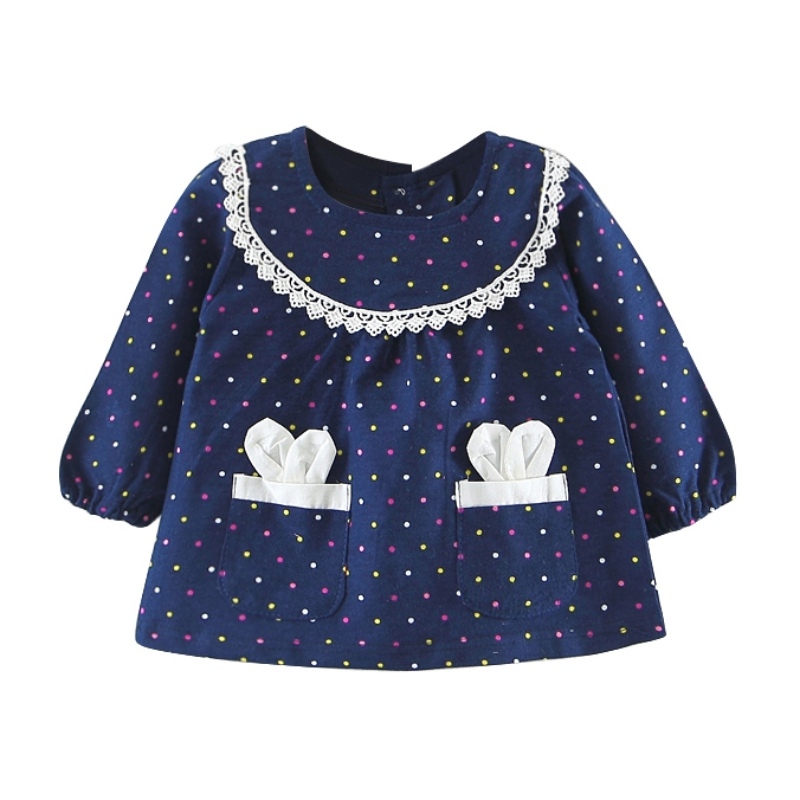 2018 Baby Dress Clothing 2018 Baby Girl Clothes Dot Pattern Newborn Infant Girl Dresses Cotton Dressr