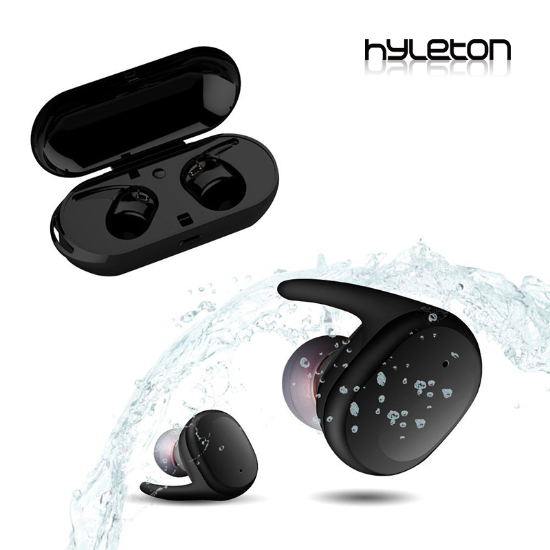 Hyleton mini Bluetooth earbuds V4.2 waterproof IPX5 sports heaphone with 800mAh charge box for xiaomi iphone samsung phones