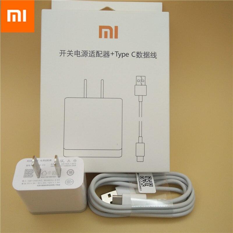 Original xiaomi mi6 Schnelle Ladegerät QC 3,0 Quick Charge Adapter Usb Typ C Kabel für mi a1 mi x max 2 6 5 5 s 4c 4 s redmi pro plus