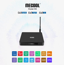 2019 Mecool Mới TV Box K6 2 + 16G HiSilicon HI3798M Quad-core Android 7.0 TVBOX 4k 100Lan DVB T2/S2/C nhà thông minh Set Top Box Tivi(China)