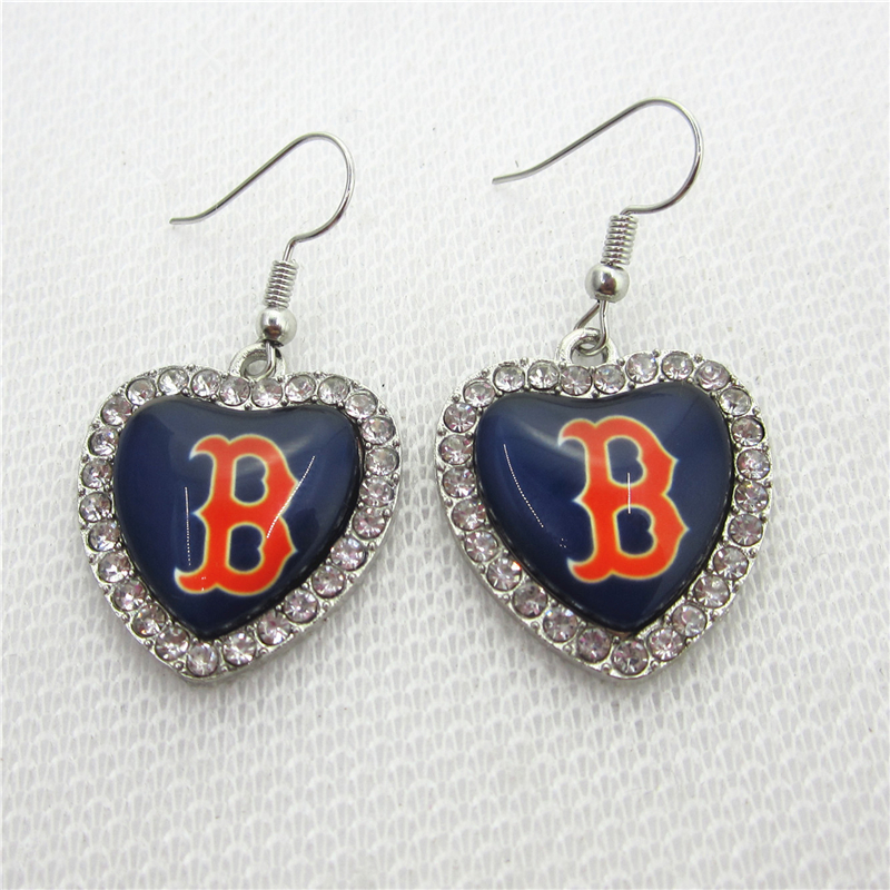 New 5pair/lot Baseball Team Boston red sox Earring for Fashion Jewelry Earrings USA Sports Earrings Jewelry