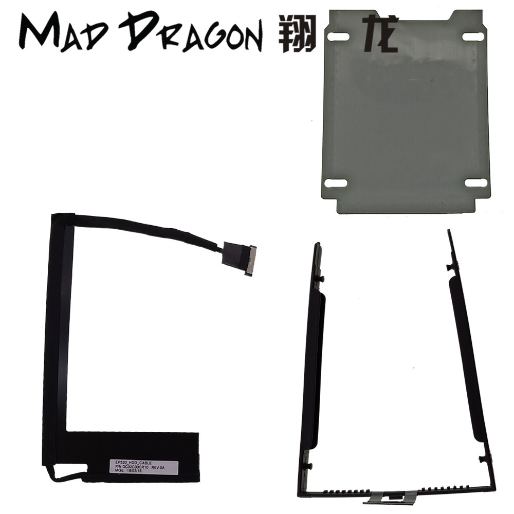 US $4 75 5% OFF|MAD DRAGON new Brand SATA HDD caddy bracket and cable  sticker For Lenovo Thinkpad P52 Mobile Workstation  DC02C00CR10/DC02C00CR00-in