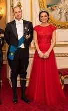 2017 Sexy Inspiriert durch Kate Middleton Celebrity Dress Red Carpet Kleid Rote Kappen-hülsen Spitze Lange Günstige Abendkleid Kleid