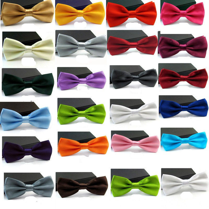 Free Shipping 2017 New Fashion Adjustable Women Men's Black White Red Multi  Solid Color  Bow Tie Bowties For Wedding Party Gift