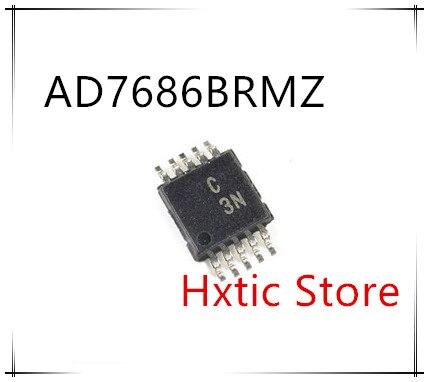 NEW 10PCS LOT AD7686BRMZ AD7686BRM AD7686 MARKING C3N MSOP 10 IC