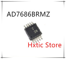 NEW 10PCS/LOT AD7686BRMZ AD7686BRM AD7686 MARKING C3N MSOP-10  IC