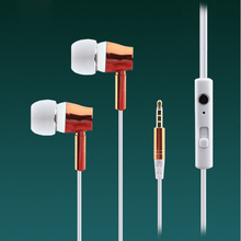 qijiagu Metal wire control earphone with mic android mobile phone universal bel heavy bass earplug manufacturers wholesale qijiagu 50pcs wireless cvc4 0 universal earplug mini car sports bluetooth headset earplug earphone with mic wholesale