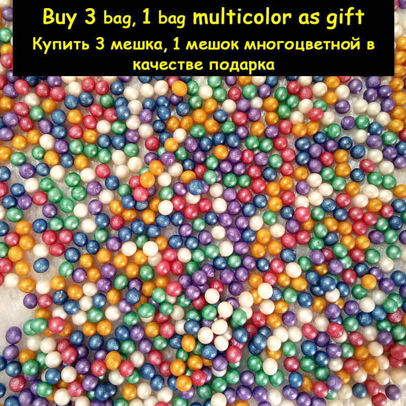 New 100pc 3-3.5mm Pearl Crystal Soil Mud Balls Hydrogel Gel Jelly Orbiz Growing In Water Beads For Flower Wedding Decorative Toy