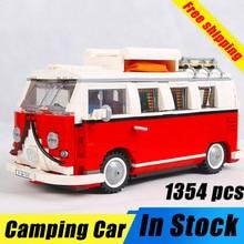 цена на Bela 10569 Create Series City Car T1 Camper Van 21001 Building Blocks 1354pcs Bricks Toys Classical Automobile Creator 10220