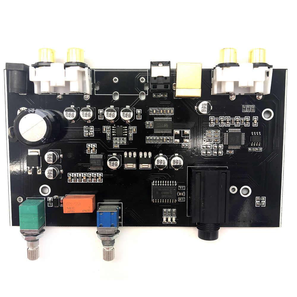 Lusya PCM5100 MS8416 оптический USB вход, DAC плата 96 кГц с аудио регулятором громкости DC 12 В B9-007