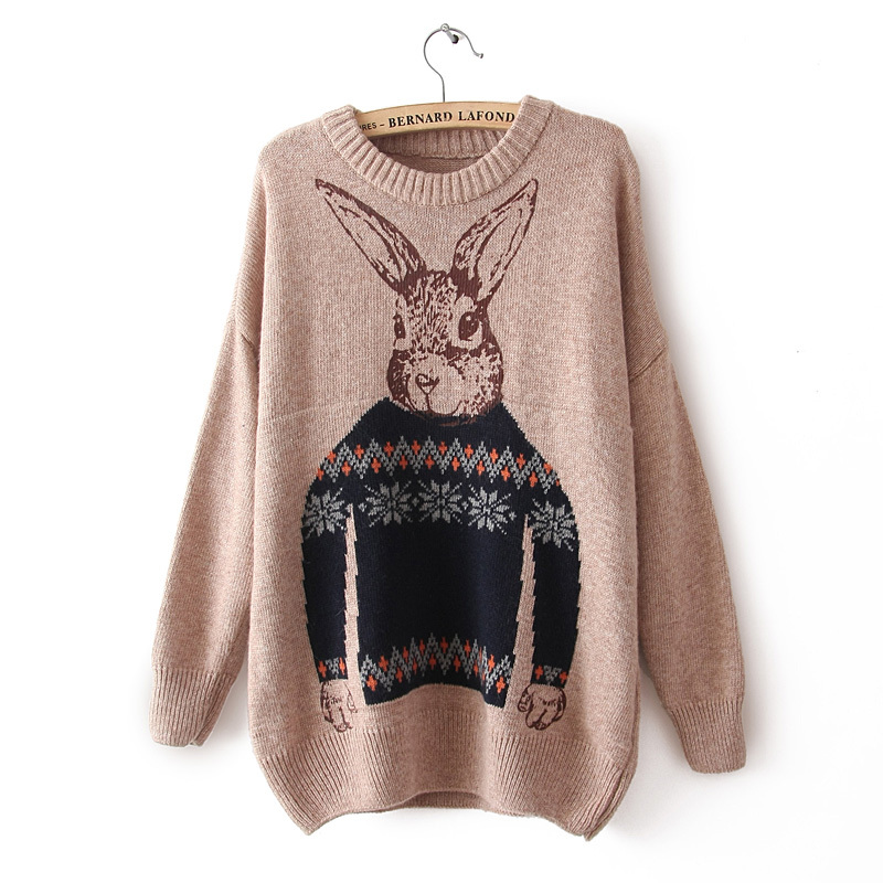 Aliexpress.com : Buy Cute fashion Mr. Rabbit sweaters winter new ...