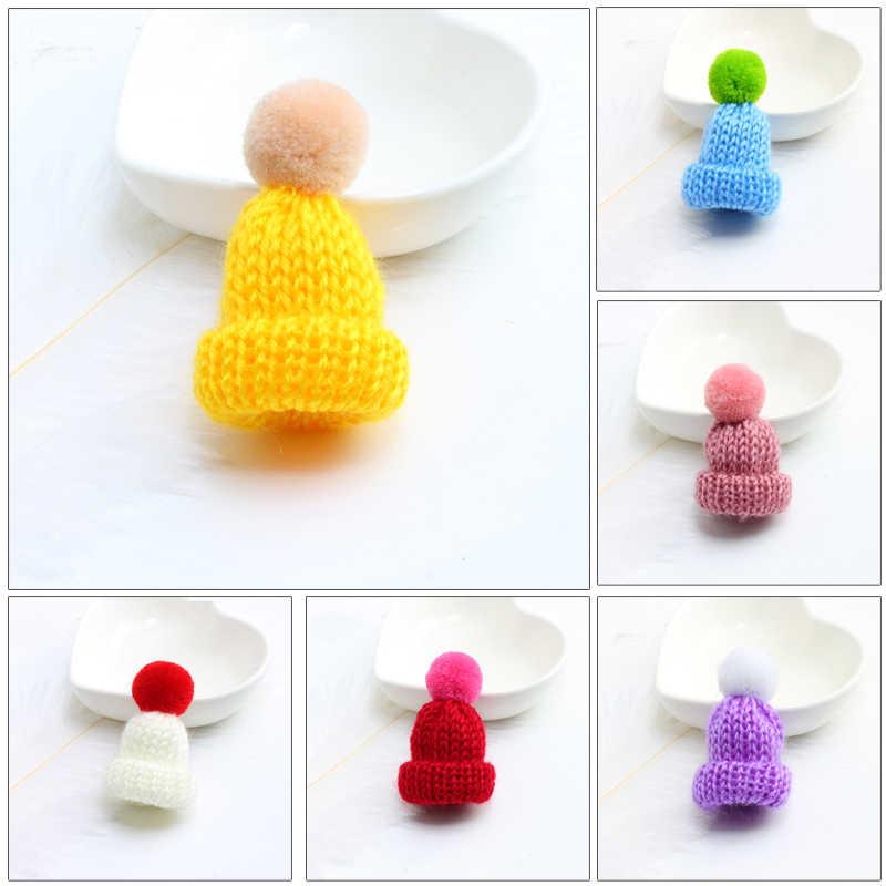 Женский вязаный Hairball мини брошь «шляпа» шпильки свитера значки милая девочка рюкзак воротник нагрудные значки Рождественский подарок 19 цветов