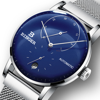 Switzerland BINGER Men Watch Luxury Brand Automatic Mechanical Mens Watches Sapphire Male Japan Movement reloj hombre B-1187-16
