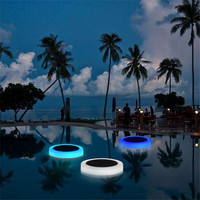 Solar Powered RGB LED Underwater Light Pond Light Outdoor Swimming Pool Floating Party Decorative Light With Remote Control