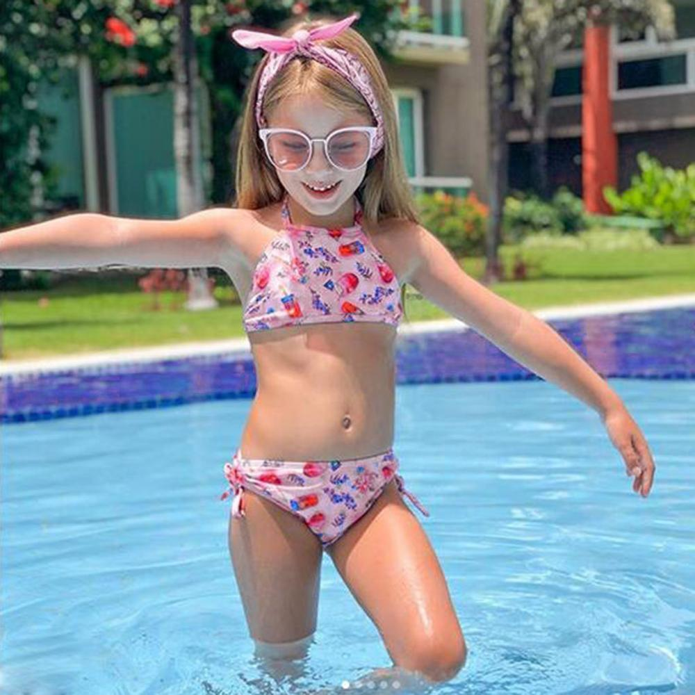 Swimsuit For Girls 2019 Child Baby Summer Kids Baby Girls Print Bowknot Swimwear Swimsuit Bikini Outfits Set Children A