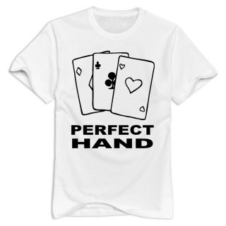 Men Short Sleeve Summer Cool Funny Perfect Hand Poker Casual Sexy Graphic Cotton Mens T-shirt ...