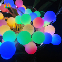 2016 NEW 4M 40 LED Colorful Ball String Lights AA Battery Operated Fairy Party Wedding Christmas Flashing LED Home Decoration
