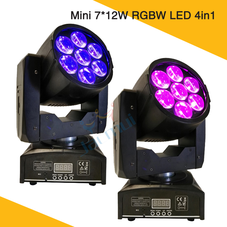 (2Pcs/Lot) Mini Led Moving Head Wash Light Zoom Function DJ Mobile Equipment For TV Show Rent Disco Dancing Hall