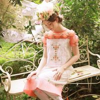 LYNETTE S CHINOISERIE Summer Original Design Women High Quality Handmade Beading Bow Pleated Embroidered Victoria Vintage