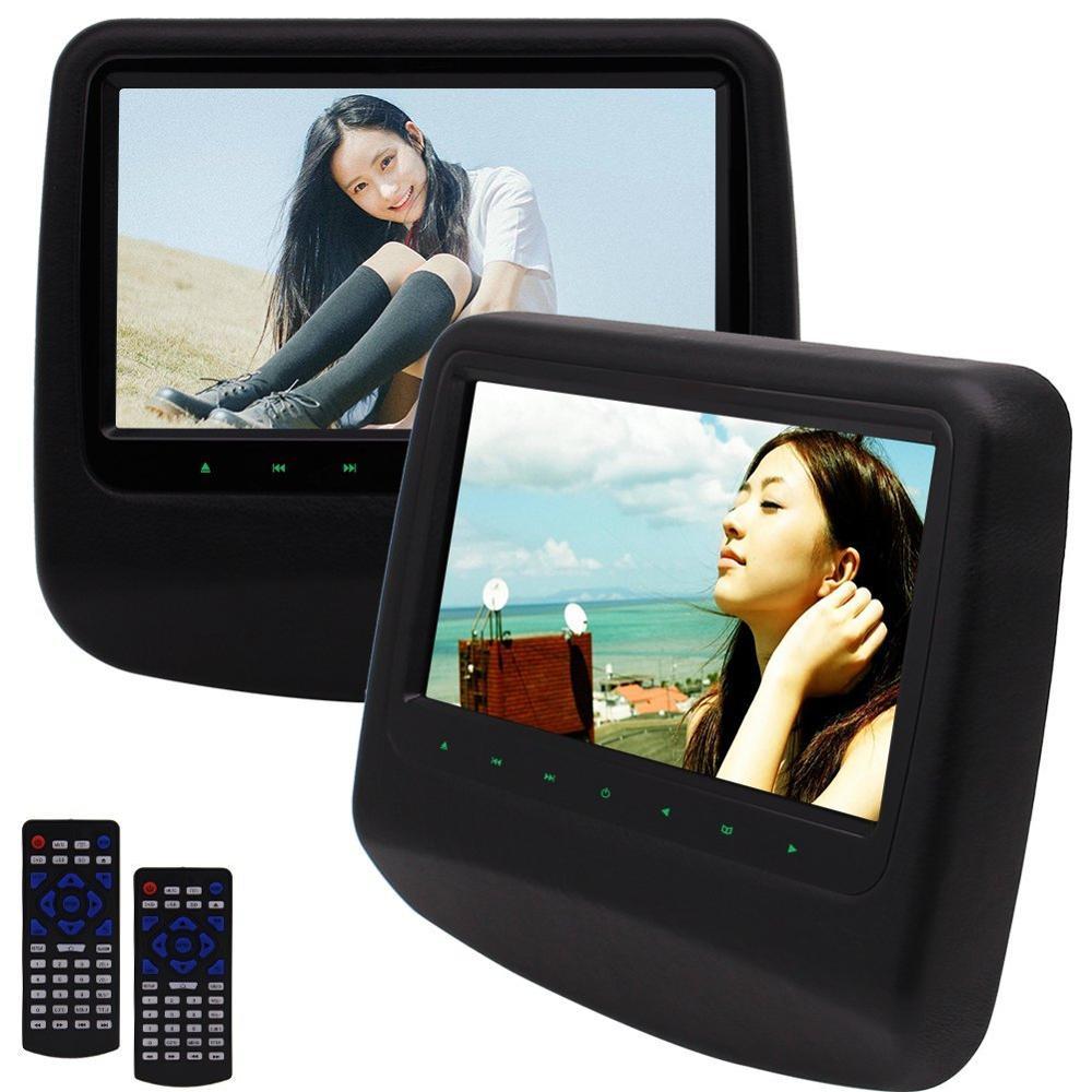 Eincar twin Экраны автомобиль подушку dvd плееры мультимедиа подголовник мониторы 9 дюймов широкий угол обзора ЖК-дисплей Экран Поддержка FM ИК с д... ...