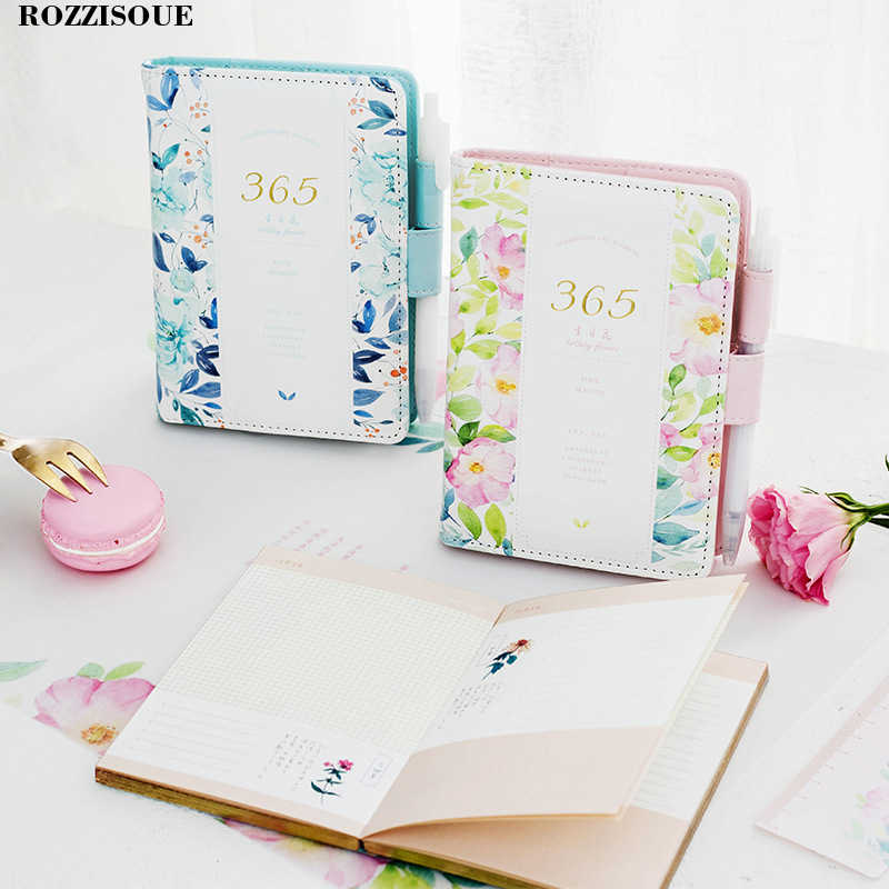 New Diary 2019 Kawaii Hardcover Notebook Set For Girls Stationery Planner Cute School Diary Memos Student Birthday Gift School