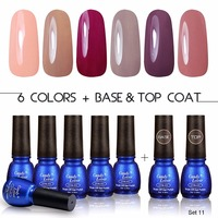 Candy Lover 8ml Gel Polish Soak Off UV LED Gel Nail Polish Pastel Colors Gift Set