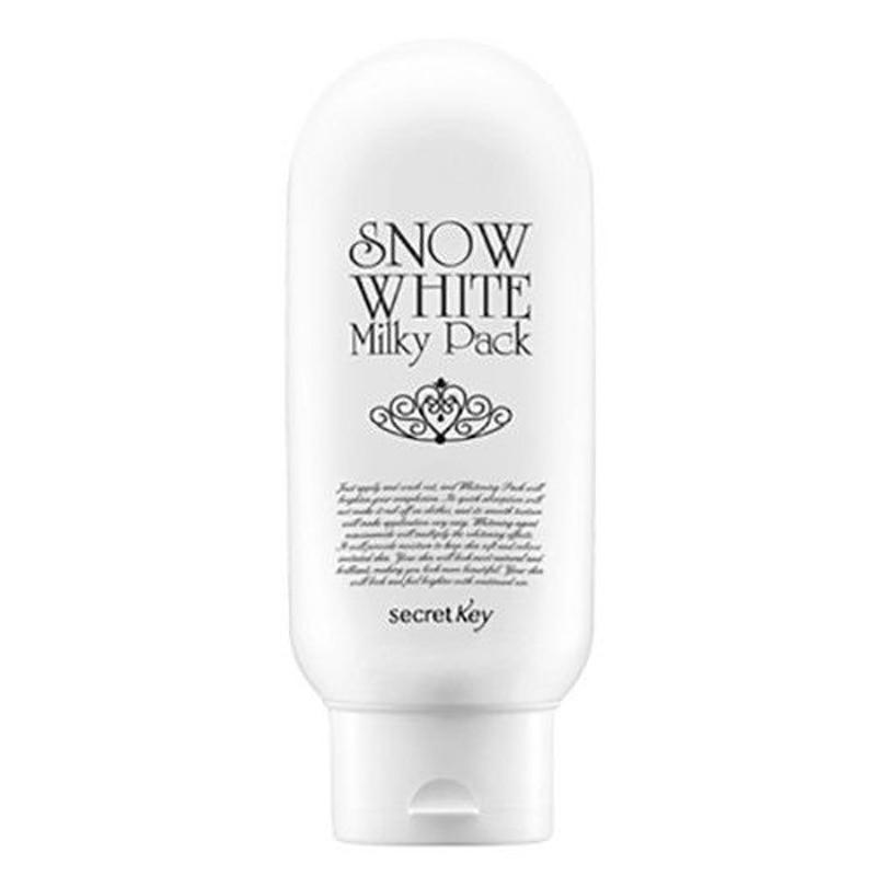 LLAVE SECRETA Blancanieves Paquete Láctea 200 g Mascarilla para Blanquear la Piel de la Cara Cuidado de la Piel Hidratante Máscara Facial de Corea