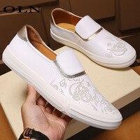 OLN новая спортивная обувь для Для мужчин обувь открытый спортивная марка супер легкая прогулочная обувь Скейтбординг обувь на плоской подо