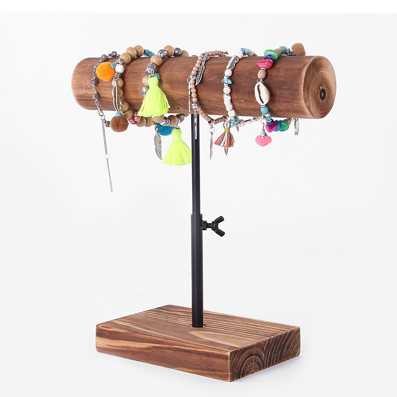 Creative Chain Bracelets Pendant Display Stand Wood Bracelets Display Holder Jewelry Display Rack Metal Jewelry Showcase