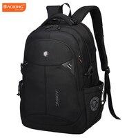 Aoking Brand Black Laptop Backpack Daily Rucksack Men Computer Bagpacks Mochila Feminina Bag School Bags Men