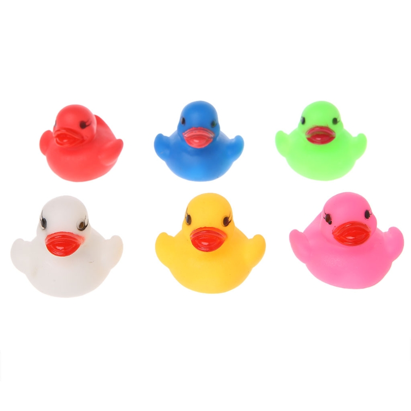1PC LED Flashing Light Rubber Floating Duck Bathtub Shower Toy For Kids Children MAY23-D