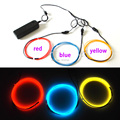 1Meter DC-3V 3pieces multicolor 1.3mm EL wire Flexible LED Strip Neon Glow Light EL Cable Rope for Model Festival decoration