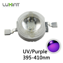 UV led diode 3w 50pcs 395nm-400nm-410nm purple led lights 3W high power LED chip UV for led plant growing light bead