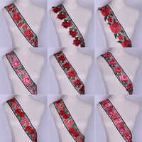 Handmade Flower Material Cloth DIY Beauty Rose Flower Lace Trim Chiffon Double 3D Lace Fabric