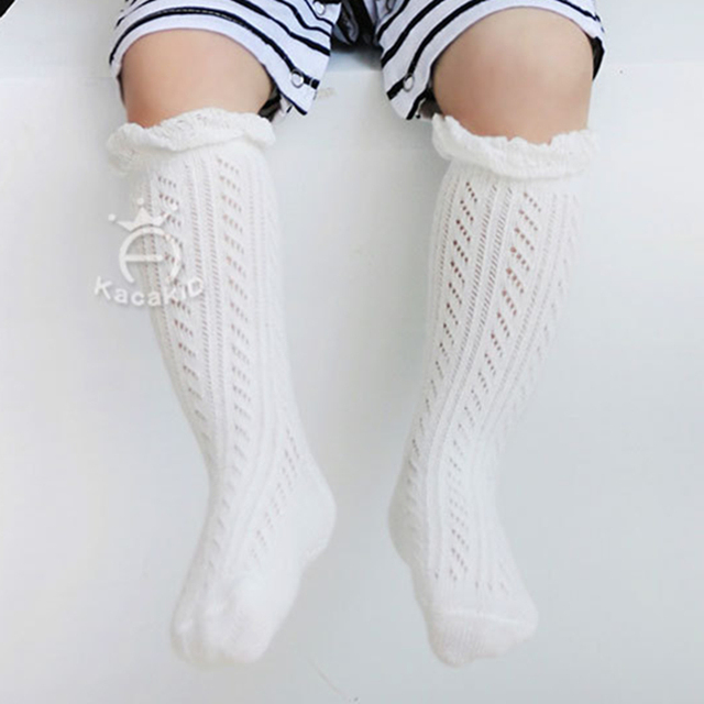 0-3 Years New Breathable Summer Baby Socks Cotton Knee High for Newborns Boys Girls Kids Infant Childrens Socks Bebe Clothes 2