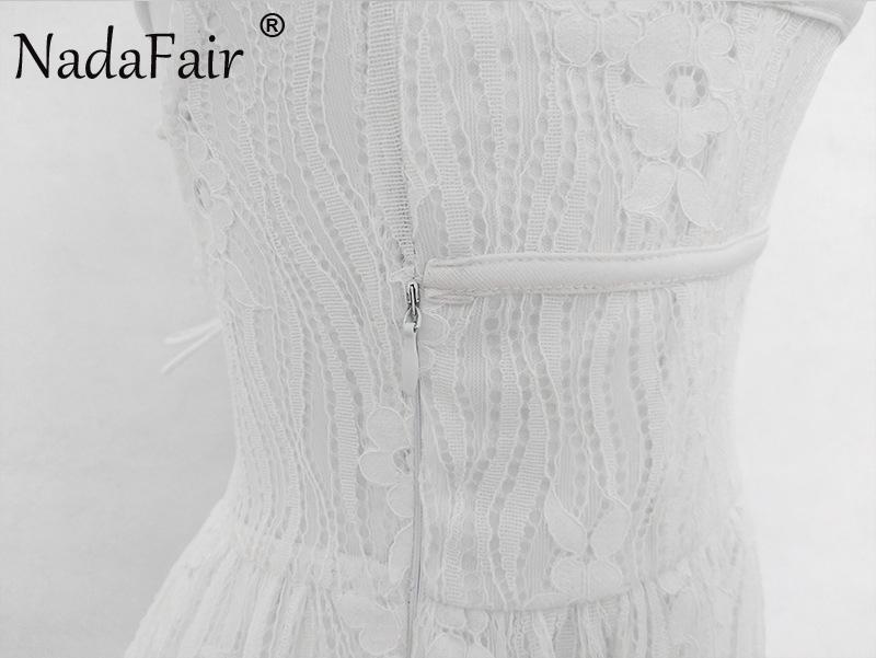 HTB14yGOaogQMeJjy0Feq6xOEVXau - FREE SHIPPING Party Dress Sleeveless Lace-up Backless V Neck White Black 142