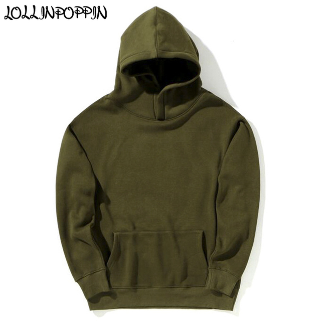 fc46f949 Hip Hop Men Olive Green Hoodies Fleece Hooded Sweatshirts Drop Shoulder  Oversize Hiphop Hoodie Mens Hoody
