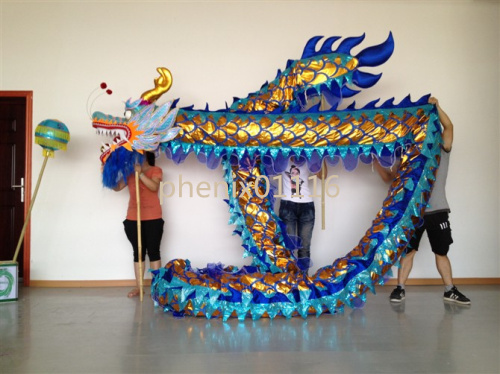 10M 6 vuxen CHINESE DRAGON DANCE guldpläterad Folkfestival - Nationella kläder - Foto 3