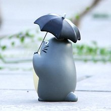 Action Figures Studio Ghibli – My Neighbor Totoro – 10cm Totoro with Umbrella Resin 4″ Figure Statue