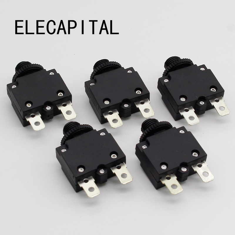thermal switch circuit breaker overload protector 3A,4A,5A,6A ,7A, 7.5A ,8A,10A,15A,18A,20A,25A,30A overload switch