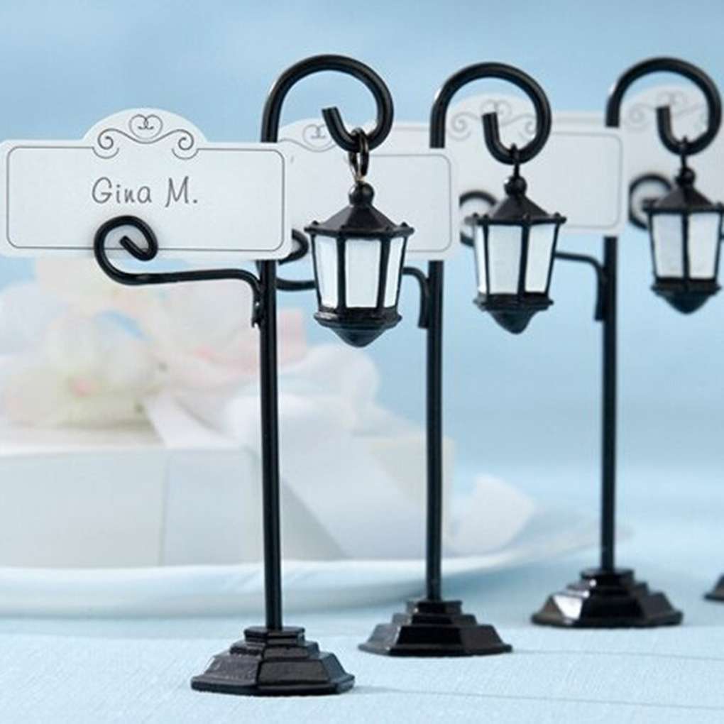 Street Lamp Card Holder Table Number Photo Memo Clip Wedding Table ...