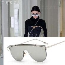 TESIA New Steampunk Sunglasses Women Kendall Jenner Style Siamese Mirror Lens Sun Glasses Women Eyewear Accessories Oculos T903