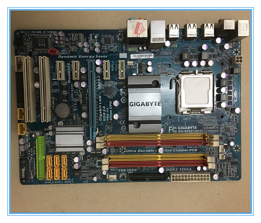 Free shipping original motherboard for Gigabyte GA-EP45-UD3L DDR2 LGA 775 EP45-UD3L Desktop Boards