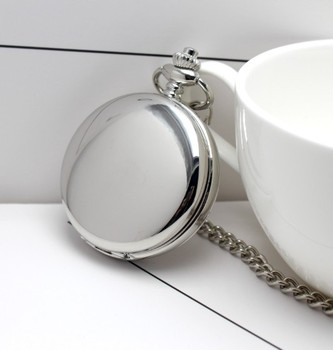 Recién llegado, diseño de funda de caballo para rueda, Número romano esfera con mecanismo al descubierto, Reloj de bolsillo mecánico con cadena