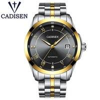 CADISNE бренд золотой механические Automatio часы модные спортивные наручные часы Мужчины из нержавеющей стали XFCS мужской часы reloj hombre