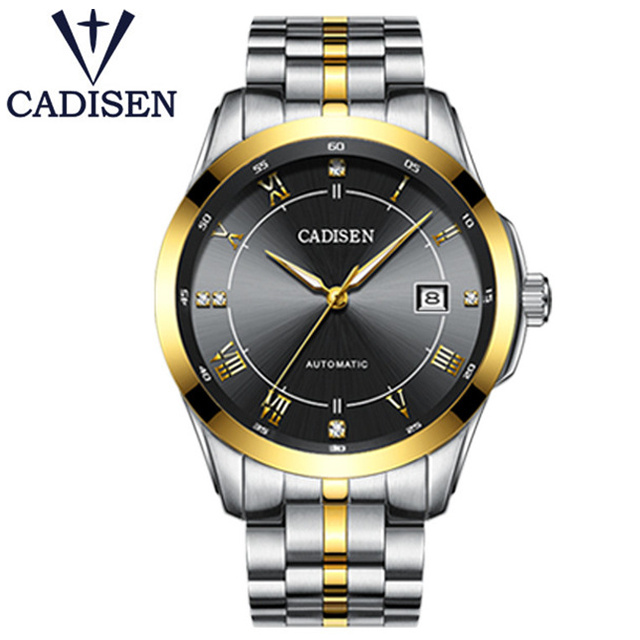 CADISNE Top Brand Golden Mechanical Automatio Watch Fashion Sport Wrist Watches Men Stainless Steel XFCS Male Clock reloj hombre skone new 2017 fashion creative sport watch men top brand luxury saat stainless steel quartz mens watches reloj hombre xfcs