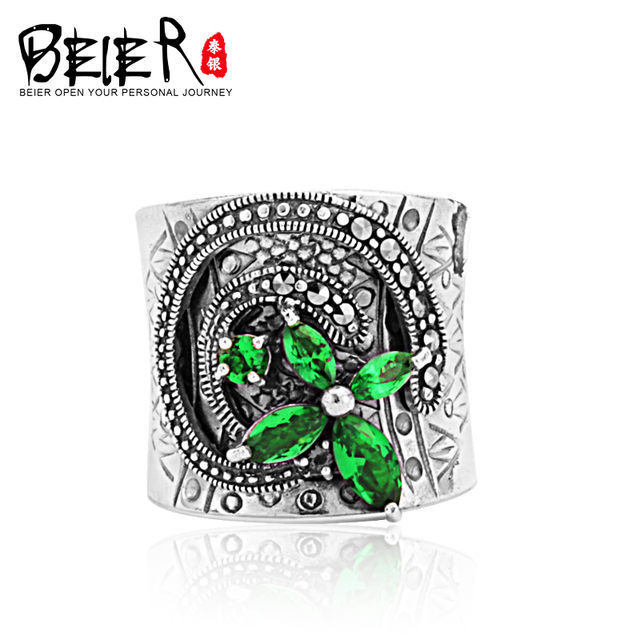 Beier 100% 925 silver sterling ring ring for girl/wome Luxurious Zircon high-end custom the best gift Jewelry  BR925R022