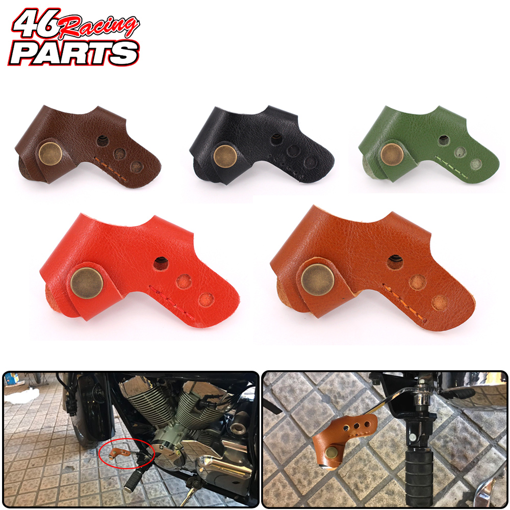 Motorcycle accessories Gear Shifter Shoe Case Cover Protector For Kawasaki Klx250 Klx 250 ZZR 400 ER6F Z250 Z300 ER-6N ER-6F universal motorcycle accessories gear shifter shoe case cover protector for ktm duke 125 200 390 690 990 350 1290 adventure exc