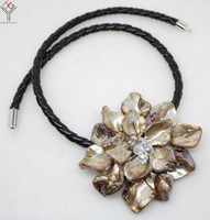 Women Jewelry Natural Pearl Crystal Deep Brown Coffee One Flower Pendant Shell Mother Of Pearl Necklace