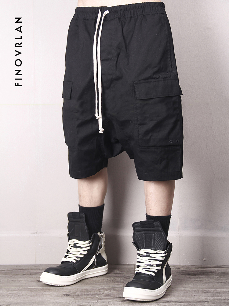 2019 Street wear Cargo   Shorts   Summer Hip hop Cotton   Shorts   men Harem pants Multi-Pocket   Shorts   Homme Casual Bermuda   shorts